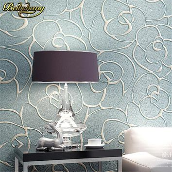 beibehang Relief Roses Wallpaper for Living Room Bedroom Mural Wall paper Roll Desktop TV Background 3D wallpaper for walls 3 d