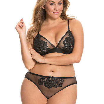 Lace applique tanga panty by Cacique | Lane Bryant