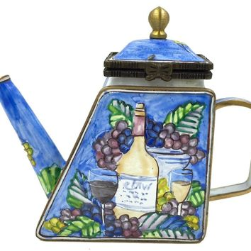 Wine Grapes for Two Tuscan Italian Miniature Porcelain Teapot 3.25H