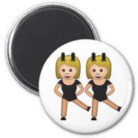 Woman With Bunny Ears Emoji Refrigerator Magnet