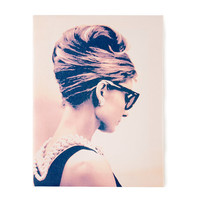 Audrey Hepburn Breakfast at Tiffany's Pose Wall Canvas