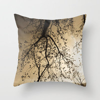 This Golden Sky Brought Tears To My Eyes Throw Pillow by Timothy Davis | Society6