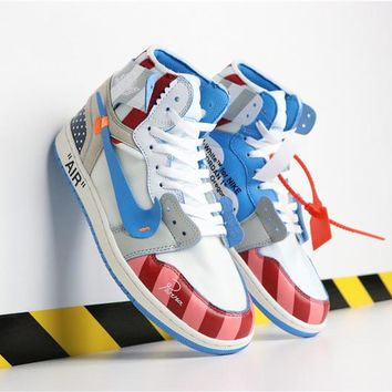 Parra x Off-White x Nike Air Jordan 1 Custom - Best Deal Online de86b40d3