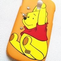 3D Cute Lovely Bear Winnie the Pooh Hard Case Cover For Samsung Galaxy Light SGH-T399 (T-Mobile)