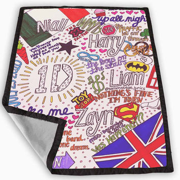 Cute 1D One Direction Collage Art Blanket for Kids Blanket, Fleece Blanket Cute and Awesome Blanket for your bedding, Blanket fleece *
