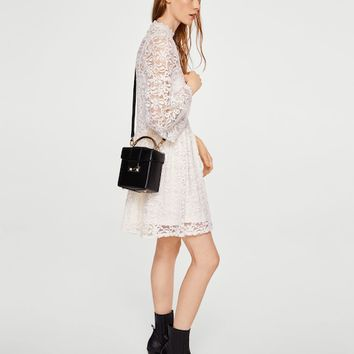 Lace short dress - Women | MANGO USA