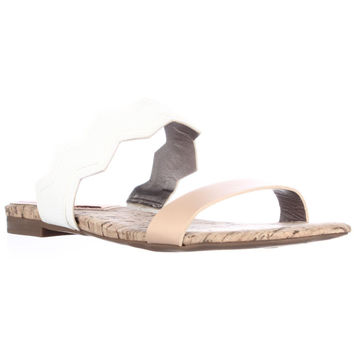 Circus by Sam Edelman Gia Flat Slide Sandals - Naked Natural