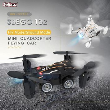 SBEGO 132 Mini Pocket Flying Car 2.4G 4CH Design 6-axis Gyro 360 Degree Quadcopter RC Drone RTF