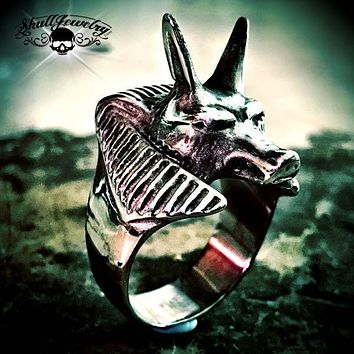 Egyptian 'Anubis' Canine/Wolf Ring (730)