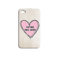 Cute Pink Heart Mrs Nash Grier Phone Case Sweet iPhone 4 4s 5 5s 5c 6 + Hot iPod