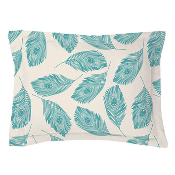 Peacock Feathers Pillow Shams