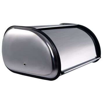 Goplus Stainless Steel Bread Box Storage Bin Keeper Food Container Kitchen New