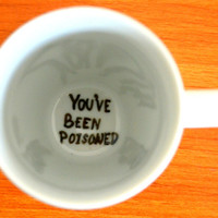 Halloween Table Decor // Funny Coffee Mug // You've Been Poisoned // Spider Web Cup 10 oz