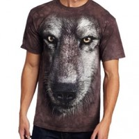 The Mountain Men's Wolf Face Shirt