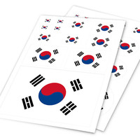 A4 Sheet South Korea Flag Colored Car Styling Hellaflush Sticker Auto Motorcycle Bicycle Laptop Skateboard Ipad Phone DIY Decals