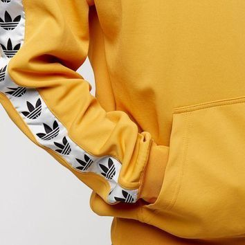 NOV9O2 ADIDAS Casual Top Sweater Pullover In Yellow Hoodie