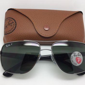 Authentic Rayban Sunglasses RB 3483 004/58 3P polarized - New with box and case