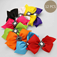 Girls Multi Color Hair Bows