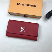 LV Louis Vuitton WOMEN'S LEATHER LOCKME WALLET