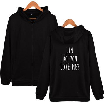 KPOP BTS Bangtan Boys Army LUCKYFRIDAYF Hot  Do You Love Pop Me Women Autumn Harry Styles Zipper Hoodies Sweatshirts Fashion  Soft Fashion Clothes AT_89_10