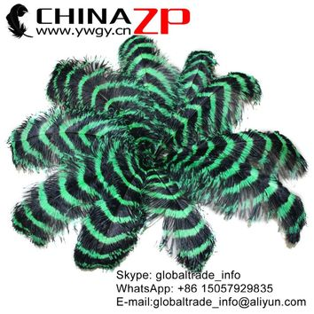 "CHINAZP Factory Size 70-75cm (28-30"") 50pcs/lot Hot Sale Kelly Green and Black Ostrich Feathers Centerpiece Decorations"