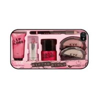 Amazon.com: Iphone 4/4s Case, Iphone Cover, Iphone Rubber Case Lightpink - All Carriers-Pink Makeup Kit: Cell Phones & Accessories