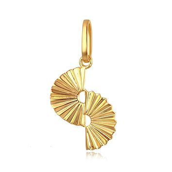 Everly 18K Yellow Plating, Elegant Fan Charm Necklace, Gifts for Mom, Best Friends, Gold Tone