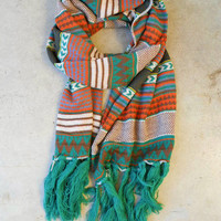 Knitted Navajo Fringe Scarf [3415] - $27.20 : Vintage Inspired Clothing & Affordable Fall Frocks, deloom | Modern. Vintage. Crafted.