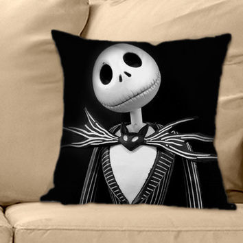 Jack Skellington's Caracter on Decorative Pillow Cover