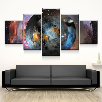 Space Abstract Canvas Set