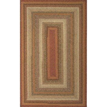 Jaipur Rugs Braided Solid Pattern Red/Ivory Cotton and Polyester Area Rug CBR04 (Rectangle)