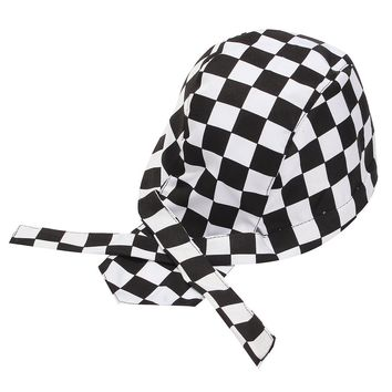 1 PCS Pirate Unisex Colorful Chef Hat Cap Cooking Cap Cloth Plaid Striped Plain Restaurant Waitress Hat Outdoors Cap