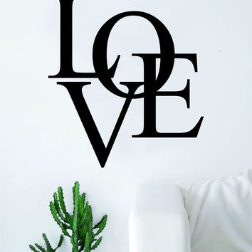 Love Lettering Design Quote Decal Sticker Vinyl Wall Room Decor Decoration Art Cute
