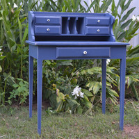 Writing Desk - Denim Blue