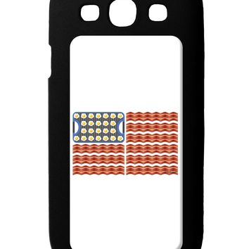 American Breakfast Flag - Bacon and Eggs Galaxy S3 Case  by TooLoud