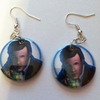The 11th Doctor - Doctor Who Upcycled Earrings