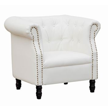Fine Mod Imports Chester Chair, White