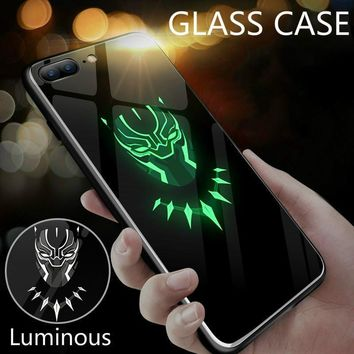 Marvel Avengers Superhero Luminous Glass Case For iphone