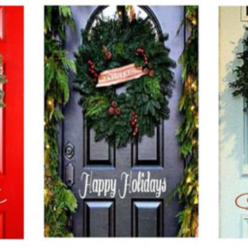 Christmas Door Vinyl Decor