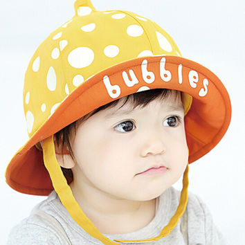 Cute Kids Yellow Fisherman Cap Comfortable Hot Summer Gift 44