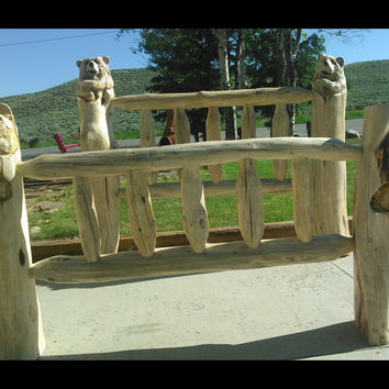 Log Beds - With or Without Bear Carvings