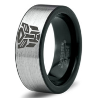 Transformers Autobot Ring Mens Fanatic Geek Sci Fi Jewelry Boys Girls Womens Superhero Transformers Ring Fathers Day Gift Tungsten Carbide 261