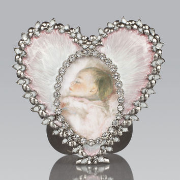 Pale Pink Oval & Heart Frame - Jay Strongwater