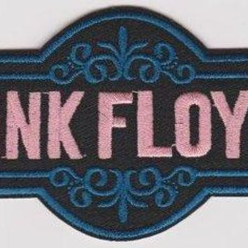 Pink Floyd Iron-On Patch Die Cut Pink Logo