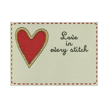 Labels, Love in every Stitch, 1/pkg Woven Label, Premade sewing, quilting, sewing labels