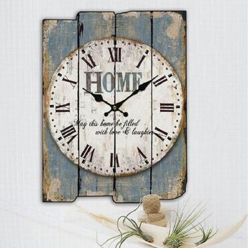 Decorative Wood Panel Wall Clocks