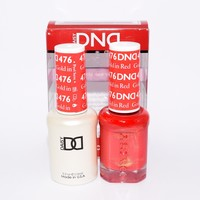 DND Daisy Soak Off Gel Polish + Matching Nail Polish Duo 476 Gold In Red