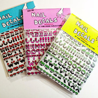 SLIME TIME alphabet nail decals - SUPERPACK