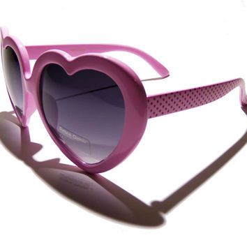 FREE SHIPPING, light pink heart shaped sunglasses, vintage, vintage style, retro, 50s, 60s, 70s, lolita, sunglasses, glasses, sunnies, shade