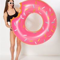 Frosted Donut Inflatable Pool Float